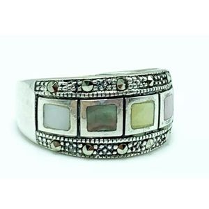 Marcasite sterling silver ring size 9